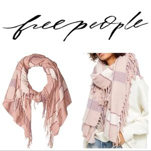 Free People Blush Combo Soft Valley Plaid Scarf